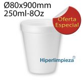 1000 Vasos Termicos Hiper foam 8 oz 250ml