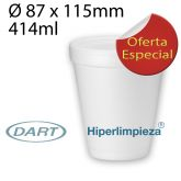 1000 Vasos Térmicos o Foam Dart 12 oz 414ml